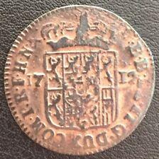 RARE NAMUR Maximilien Emanuel von bayern 1 Liard 1712 3,03 gr