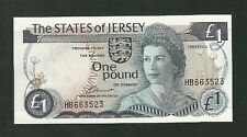 The States of Jersey 1 Pound Currency Note Pick #11A Paper Money One Pound