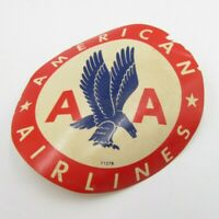 Vintage AMERICAN AIRLINES Old Sticker AA Eagle On Red Blue & White T127B