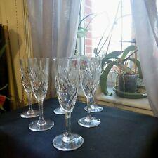 6 flûtes à champagne  en cristal saint louis modèle chantilly signée
