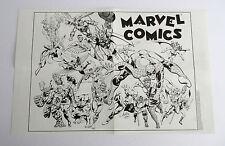 1989 Marvel Comics poster:Avengers/Spiderman/Thor/Dr Strange/Ironman/Marvelmania