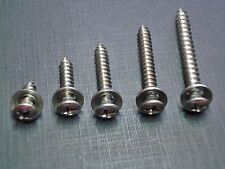 50pcs #8 w/#6 phillips oval head screws washers stainless for Plymouth Dodge
