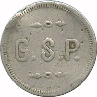 G. S. P. Perugian Club Italian Society Keystone Pennsylvania PA Star Trade Token