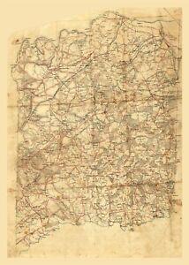 Spotsylvania County Virginia - 1860 - 23.00 x 32.27