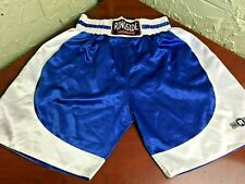 Ringside Boxing Satin Mens Shorts Adult Xxl Blue White Thick Elastic Waist Clean