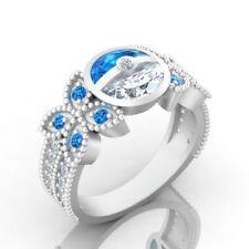 New Pokemon Blue Pokeball Friendship Ring Women Men Latest Sterling Silver N 1/2