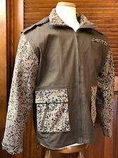 LORO PIANA ITALY Nylon Leather STORM SYSTEM jacket - NEW  Rare discontinued item