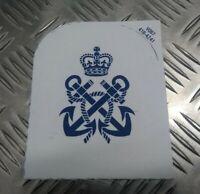 Genuine British Royal Navy White Petty Officer (PO) Patch Sew on Badge EPB99
