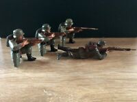 Elastolin: Rare 10cm Scale WW1 German Infantry, c1917. Pre War