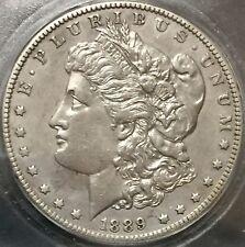 1889 CC MORGAN SILVER DOLLAR ICG AU53 DETAILS RARE KEY DATE CARSON CITY COIN