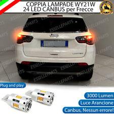 COPPIA LAMPADE WY21W LED JEEP COMPASS MP CANBUS 24 LED FRECCE POSTERIORI