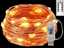 USB Plug In 10M 100 LEDs Fairy String Copper Wire Light Christmas Remote Control
