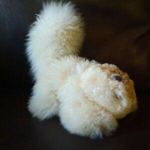 100% Alpaca fur plush squirrel Made in Peru Cream
