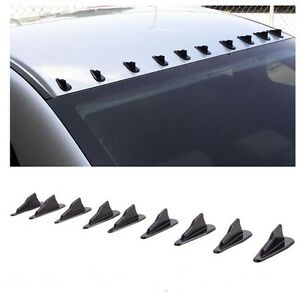 10pcs Universal Car Air Vortex Generator Diffuser Fit For EVO Style  PP Black