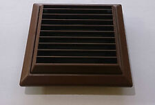 """4"""" 100mm Brown External Ventilation Fan Grill Fixed Lover - Insect Fly Mesh"""