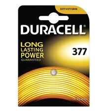 1 x Duracell 377 Batería 1.5v Pilas De Botón Moneda D377 V377 SR66 Plata Óxido