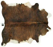 43 SQ FT New Cow hide Rug Brazilian Top Quality Size 7' x 6'.4  BRINDLE 439