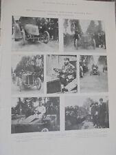 Printed photos suspended Paris Madrid car race winners and casualties 1903 rf AL