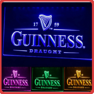 Guinness LED Neon Irish Bar Sign Home Light up Pub Beer *Quality* Draught stout