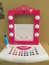 Barbie Digital Makeover iPad Mirror Virtual Makeup Beauty Salon Scrapbook EUC