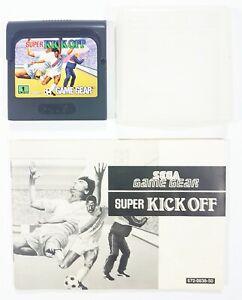 Sega Juego Equipo Súper Kick Off + Instrucciones Ee.uu Oro 1992 Fútbol/Fussball