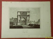 ROMA: ARCO DI TITO. Acquaforte - G. COTTAFAVI.1843.