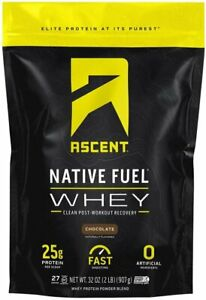 Ascent Native Fuel Whey Protein Powder - Cappuccino - 2 lbs