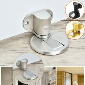 Door Holder Stainless Steel Magnetic Door Stopper Stays Non-punch Accessory