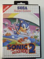 !!! SEGA MASTER SPIEL Sonic Hedgehog 2, gebraucht aber GUT !!!