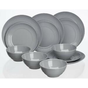 Flamefield Non Slip Dinner Plate Cool Grey - Melamine (Plastic)