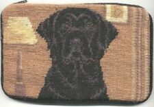 CLEARANCE..LABRADOR BLACK Dog Breed Needlepoint Cosmetic Bag Zippered Pouch