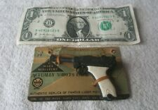 1950s MARX LUGER PISTOL TOY mounted on original selling card AUTHENTIC REPLICA