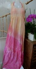 All Saints silk maxi dress Melissa Odabash bikini top 12 ombre sunset beach NEW