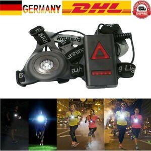 LED Lauflampe Brustlampe USB Aufladbare Lauflicht Camping Jogging Sport Lampe DE