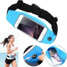 REFLECTIVE BLUE SPORTS RUNNING WORKOUT WAIST BAG BELT CASE GYM POUCH PHONE COVER