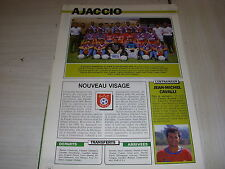 FOOTBALL COUPURE LIVRE PHOTO COULEUR 18x12 EQUIPE D2B AJACCIO 1991 1992