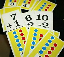 Vtg Flash Card Lot 1960s Math Addition Subtraction Teacher Classroom -W #