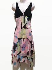 MAX AZRIA Size 6 Dressy 100% Silk Hankerchief Hem Dress
