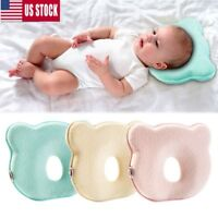Newborn Infant Baby Pillow Memory Foam Positioner Prevent Flat Head Anti Roll