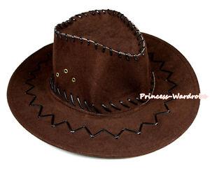 Children Size Choco Brown Western Cowboy Hat Cattleman Unisex Costume for Party