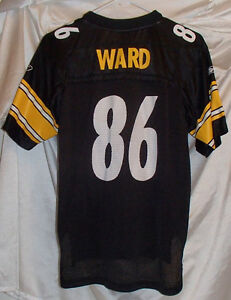 Hines Ward Pittsburgh Steelers Reebok Football Jersey Black Youth Size L #86