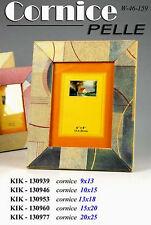 Cornice portafoto in pelle colorata cm 9*13