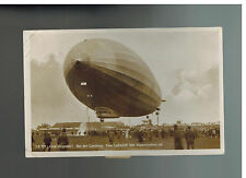 1930 Lachen Pfalz Germany Graf Zeppelin Landing Flown Postcard Cover to Koblenz