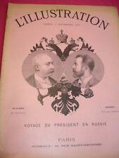 L'ILLUSTRATION 4 septembre 1897 VOYAGE DU PRÉSIDENT EN RUSSIE
