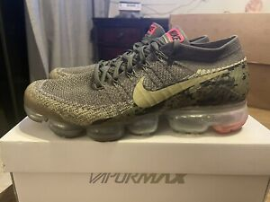 nike air vapormax flyknit c camo olive pre owned 10 AH8447201
