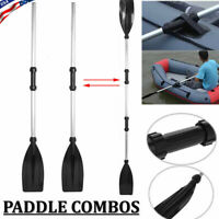 Aluminum Double-Ended Detachable Afloat Oars Paddles Boat Kayak Raft Canoe US