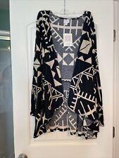 Lularoe 3XL black tan Nanette sweater cardigan