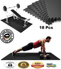 18 Pcs ensembles Tapis Mousse de Sol Puzzle Fitness Protection Gym Musculation