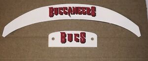 Tampa Bay Buccaneers Front And Rear Helmet 3D Bumpers Full Size Riddell Speed
