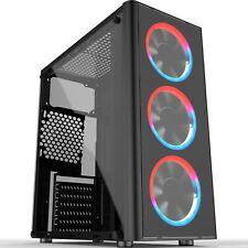 Cronus Metis Mid Tower Gaming Case - Black USB 3.0